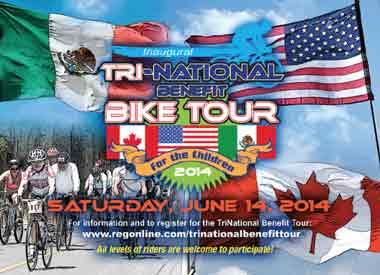 Inaugural Tri-National Benefit Bike Tour