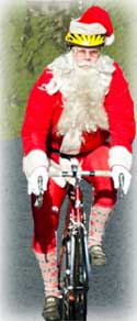 Image of Santa on toy ride