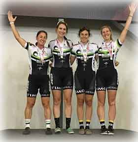 Women Team Pursuit -  1st (National Champions)